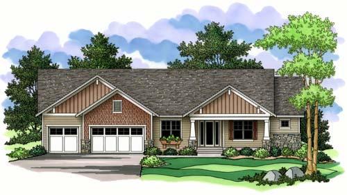 Craftsman Style Home Design Plan: 38-147