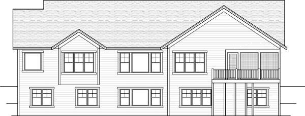 Rear Elevation Plan: 38-147