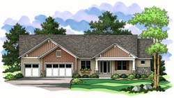 Craftsman Style Home Design Plan: 38-147