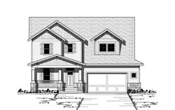 Craftsman Style Floor Plans Plan: 38-158