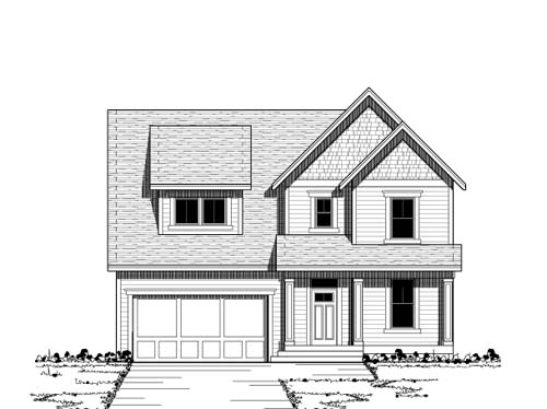 Bungalow Style Home Design Plan: 38-161