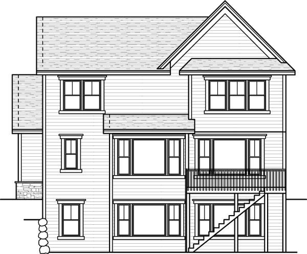 Rear Elevation Plan: 38-162