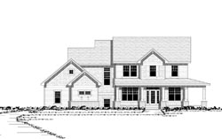 Country Style Home Design Plan: 38-182