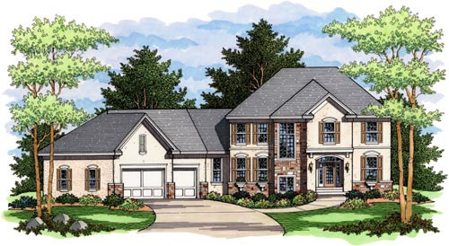 Colonial Style House Plans Plan: 38-184