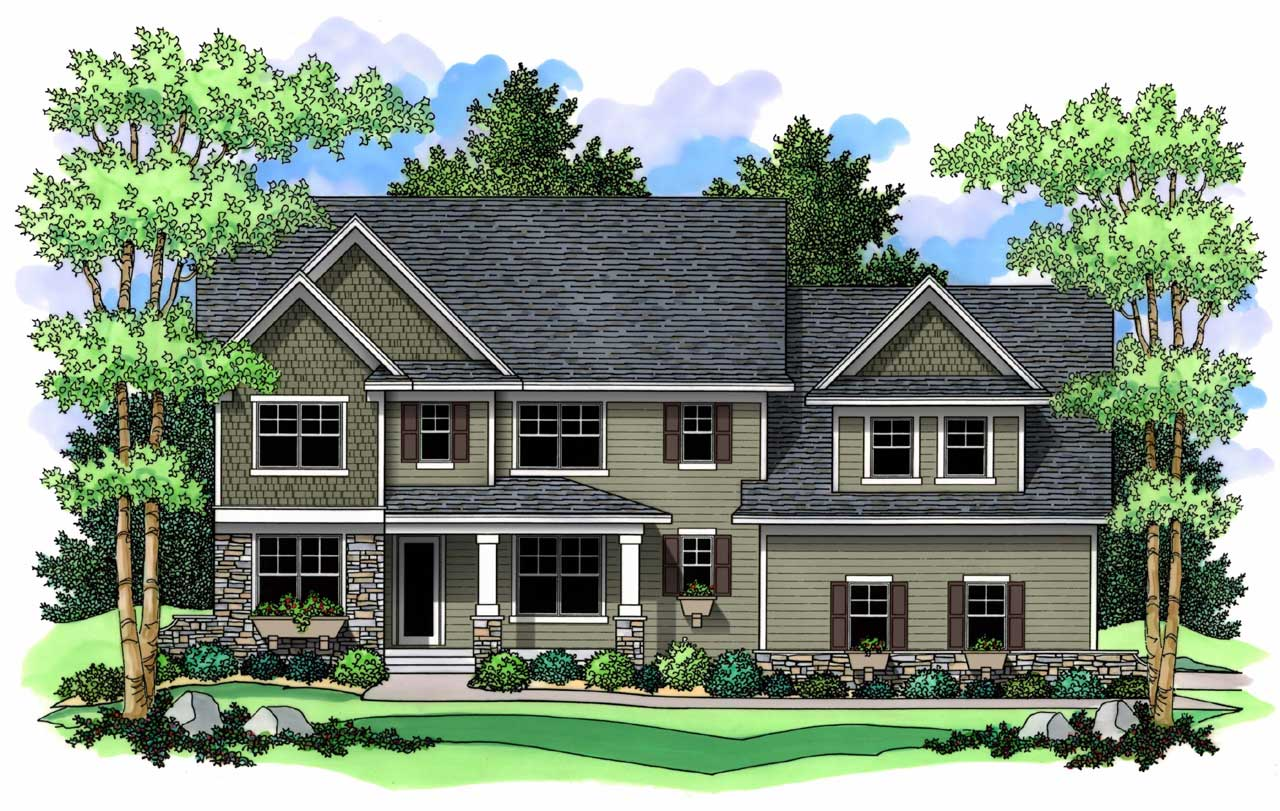 Traditional Style Home Design Plan: 38-198