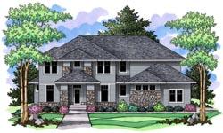 Prairie Style Home Design Plan: 38-215
