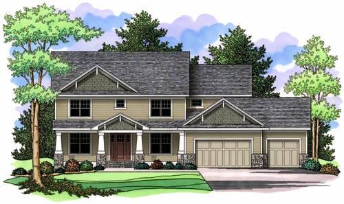 Craftsman Style Home Design Plan: 38-230