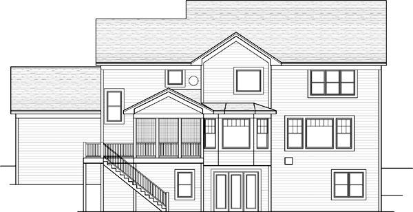 Rear Elevation Plan: 38-230