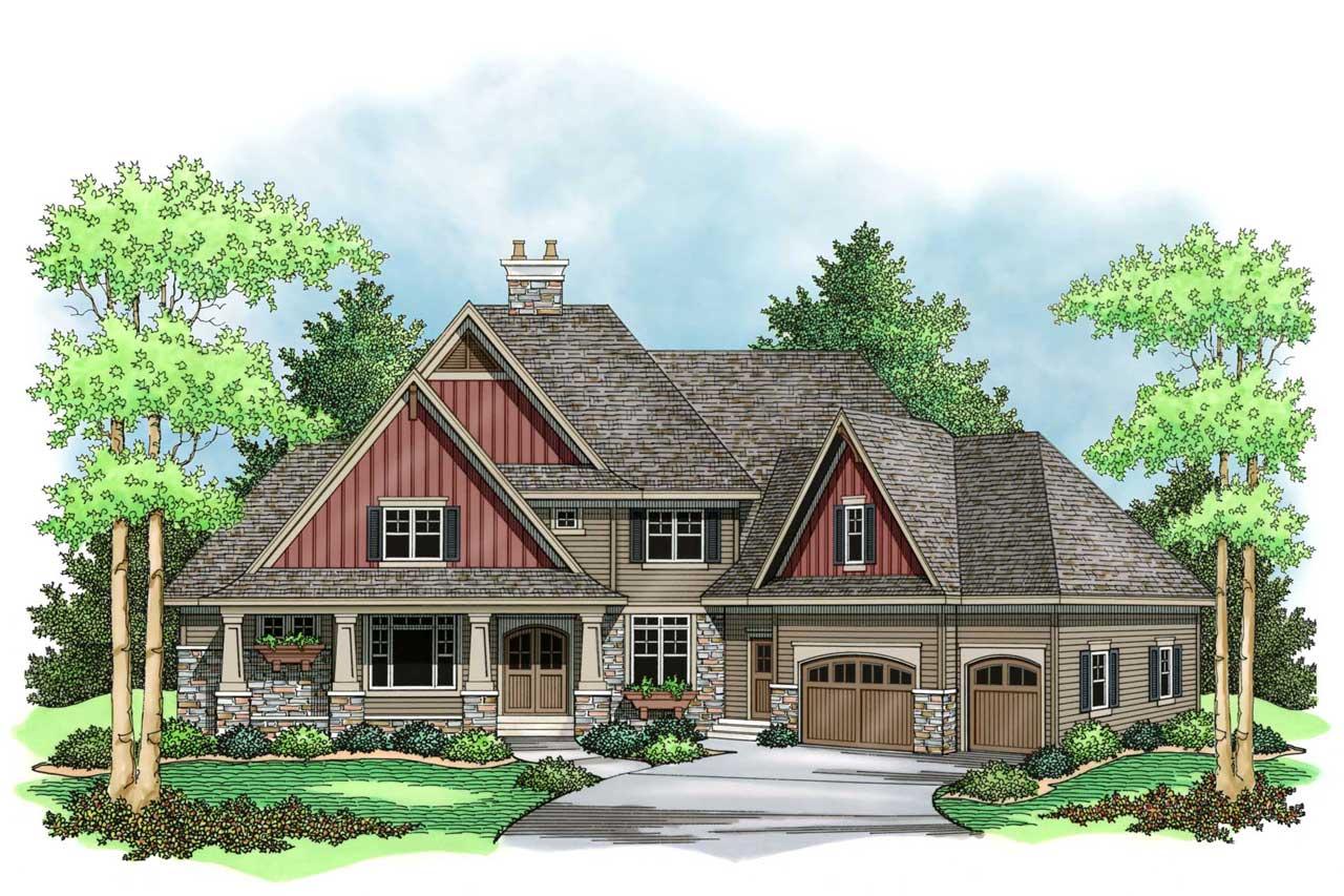 European Style House Plans Plan: 38-252