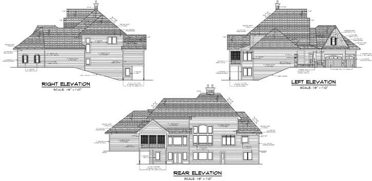 Rear Elevation Plan: 38-252