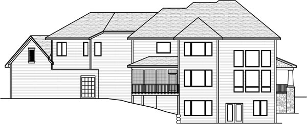 Rear Elevations Plan:38-253