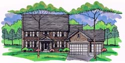 Colonial Style Floor Plans Plan: 38-332