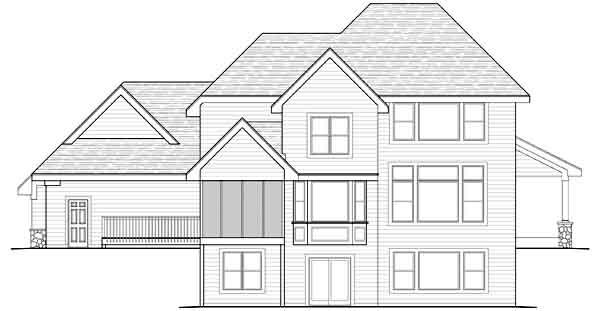 Rear Elevation Plan: 38-456