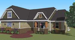 Bungalow Style Floor Plans Plan: 38-500