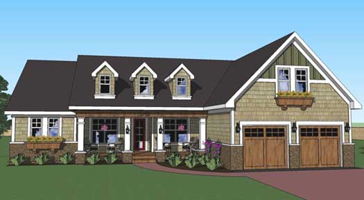Country Style Floor Plans Plan: 38-501