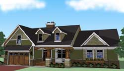 Craftsman Style House Plans Plan: 38-504