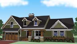 Craftsman Style Floor Plans Plan: 38-504