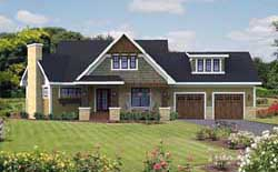 Bungalow Style Home Design Plan: 38-507