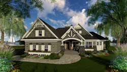 Craftsman Style Home Design Plan: 38-510
