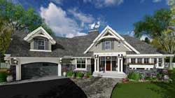 Craftsman Style Home Design Plan: 38-514