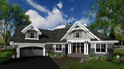 Craftsman Style Floor Plans Plan: 38-515