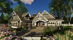 Craftsman Style Home Design Plan: 38-516