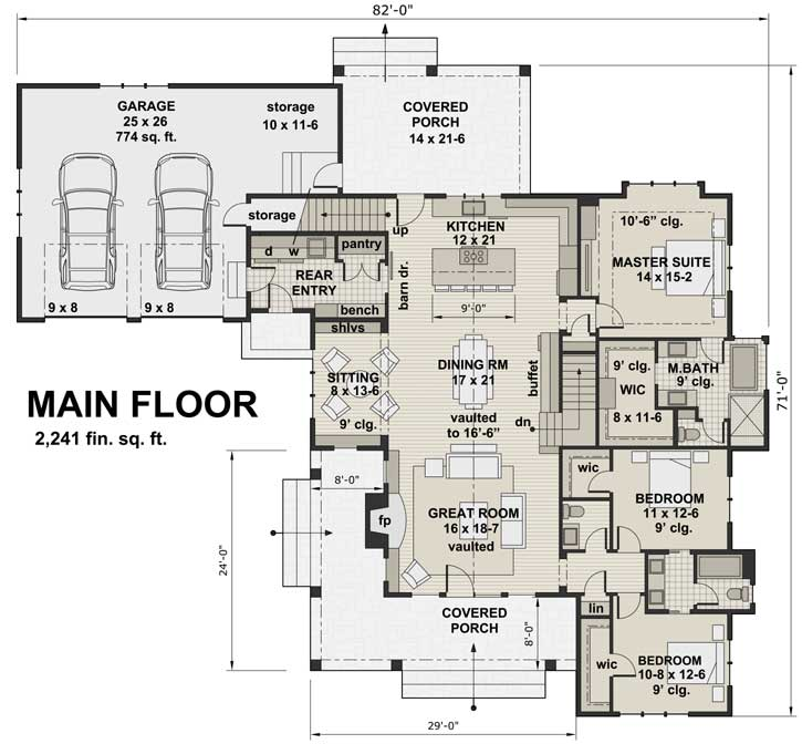 Main Floor Plan: 38-519
