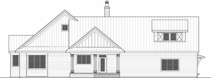 Rear Elevation Plan: 38-519