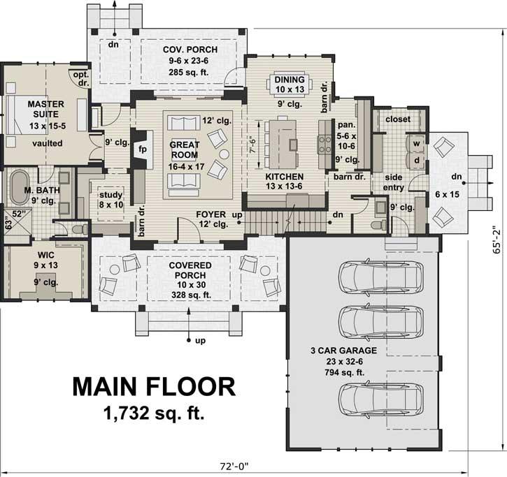 Main Floor Plan: 38-520