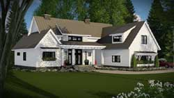 Modern-Farmhouse Style Home Design Plan: 38-520