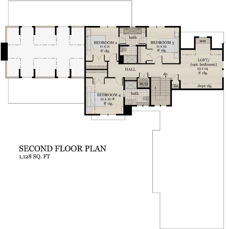 Upper/Second Floor Plan:38-524