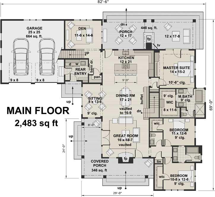 Main Floor Plan: 38-525