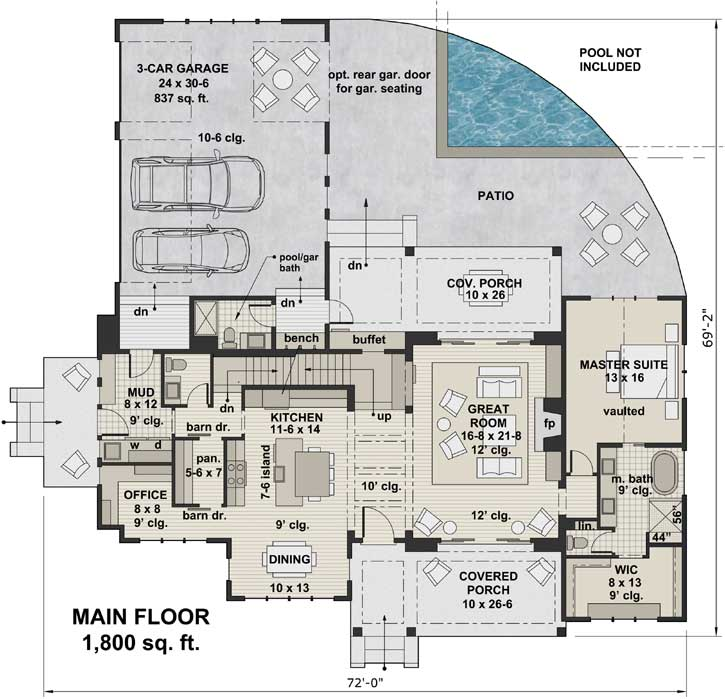 Main Floor Plan: 38-526