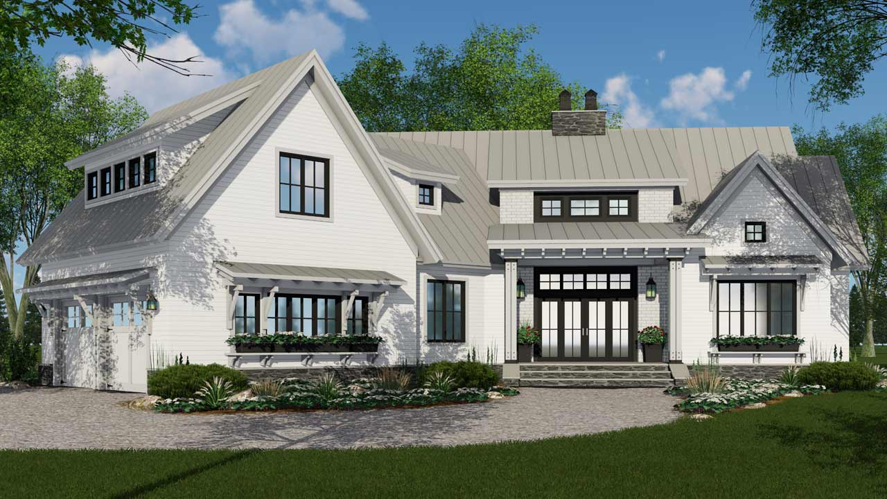 Modern-farmhouse Style Floor Plans Plan: 38-528