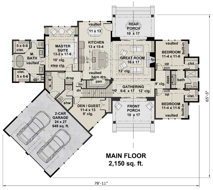 Main Floor Plan: 38-528