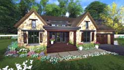 Bungalow Style Home Design Plan: 38-530