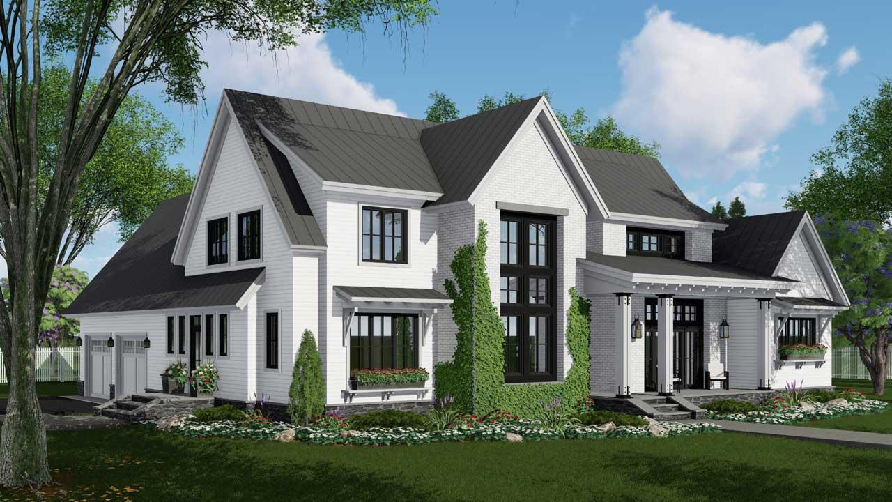 Modern-farmhouse Style House Plans Plan: 38-534
