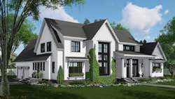 Modern-Farmhouse Style Home Design Plan: 38-534