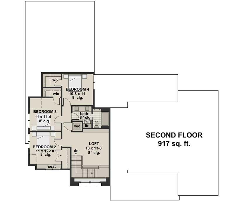 Upper/Second Floor Plan: 38-534