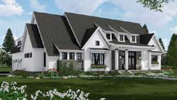 Modern-Farmhouse Style Home Design Plan: 38-535
