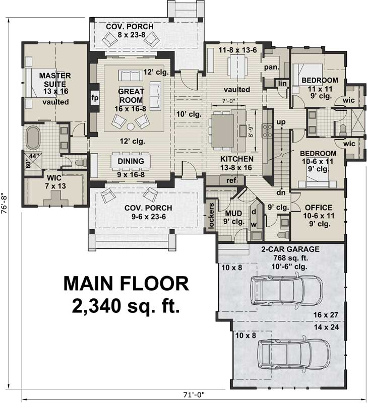 Main Floor Plan: 38-536
