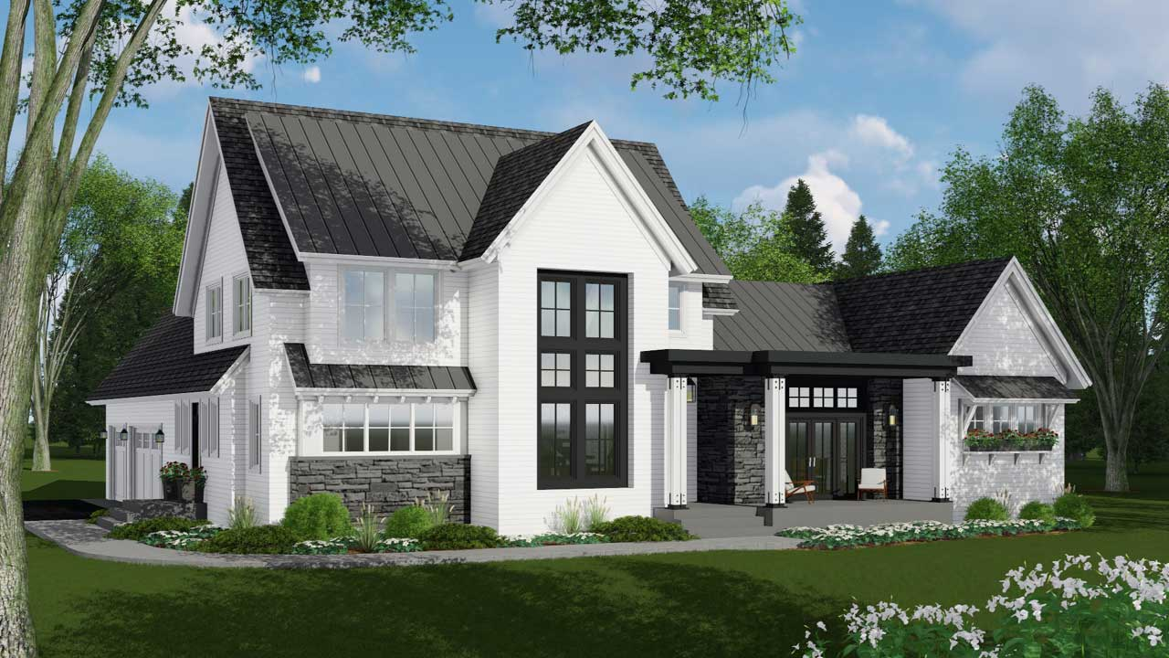 Modern-farmhouse Style House Plans Plan: 38-537
