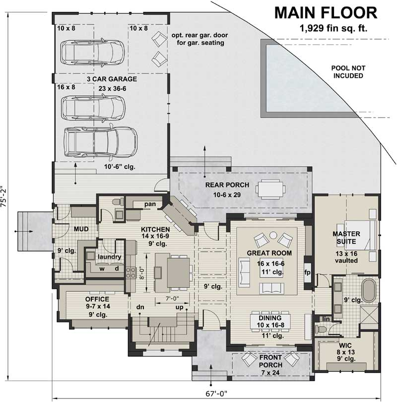 Main Floor Plan: 38-537