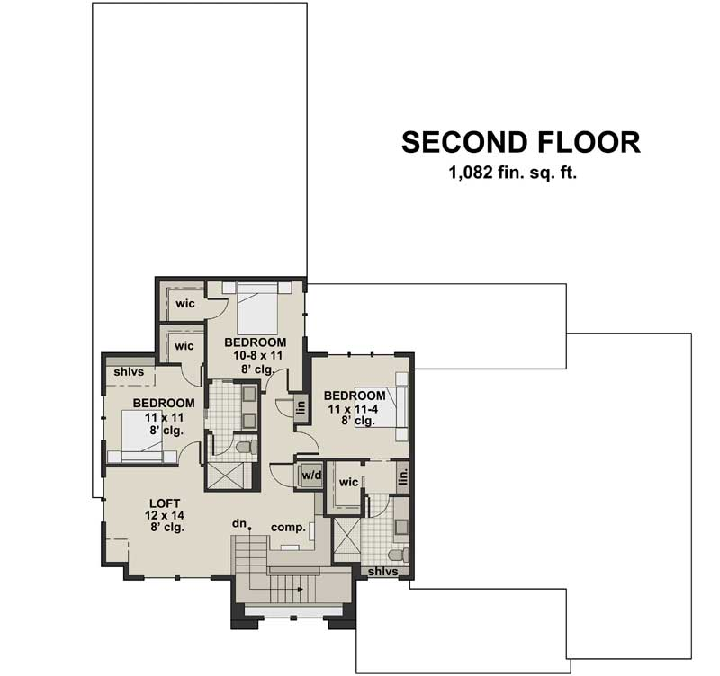 Upper/Second Floor Plan: 38-537