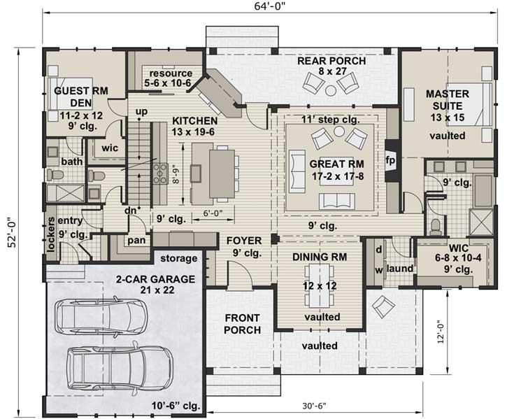 Main Floor Plan: 38-538