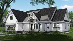 Modern-Farmhouse Style Home Design Plan: 38-538