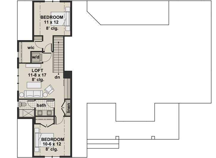 Upper/Second Floor Plan: 38-538