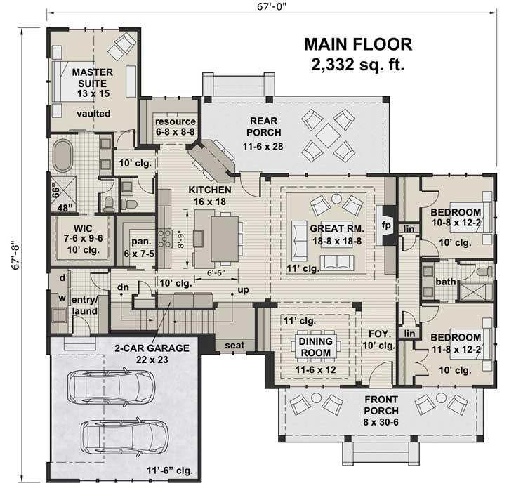 Main Floor Plan: 38-539