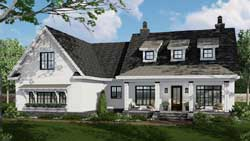 Modern-Farmhouse Style Home Design Plan: 38-539