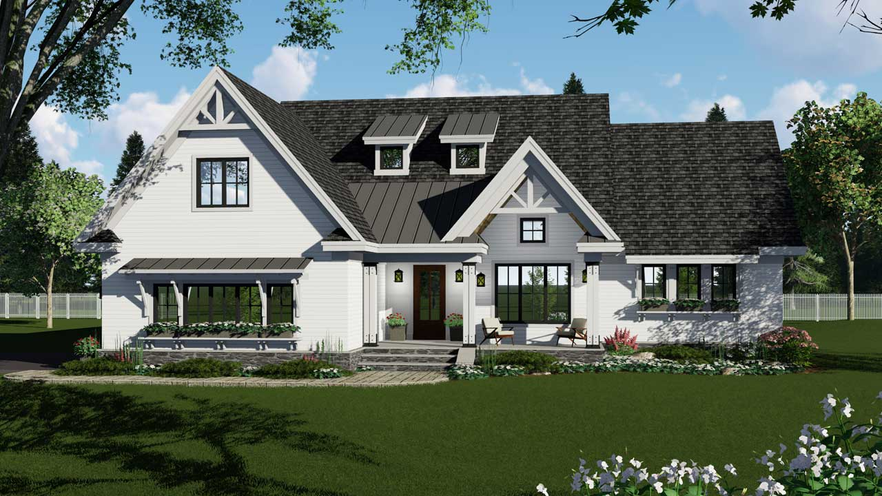 Modern-farmhouse Style House Plans Plan: 38-540